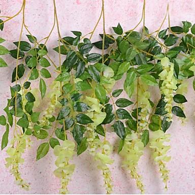 billige Kunstige blomster-Kunstige blomster 3 Gren Pastorale Stilen Orkideer Bordblomst