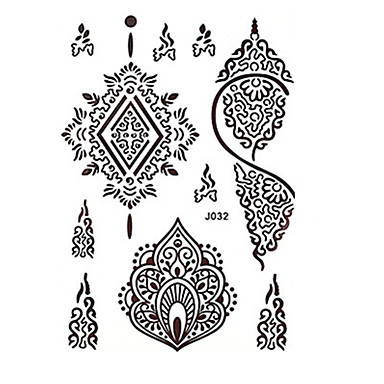 Tattoo Aufkleber Blumen Serie Totem Serie Andere Non Toxic Muster Große Größe Stamm Unterer Rückenbereich Waterproof SpitzeDamen Herren