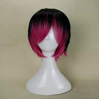Kobieta Tęczowy Proste Włosy syntetyczne Bez czepka Costume Peruki