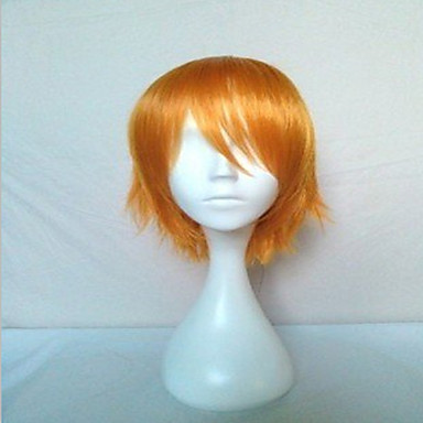 Popular Men's Cosplay Wigs Blonde Short Straight Synthetic Hair Wig Party Wig