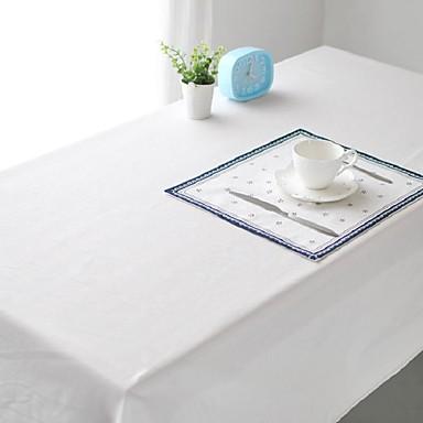 Carré Couleur Pleine Nappes de table , Mélange Lin/Coton Matériel Tableau Dceoration