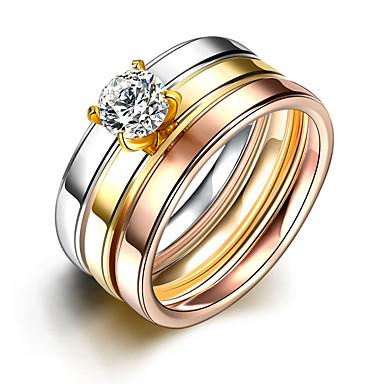 Homens Mulheres Feminino Anéis Grossos Moda Aço Inoxidável Jóias Para Casamento Festa Diário Casual