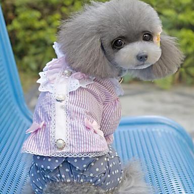 כלב שמלות בגדים לכלבים יום יומי\קז'ואל אופנתי פס סרט פרפר סגול ורוד תחפושות עבור חיות מחמד