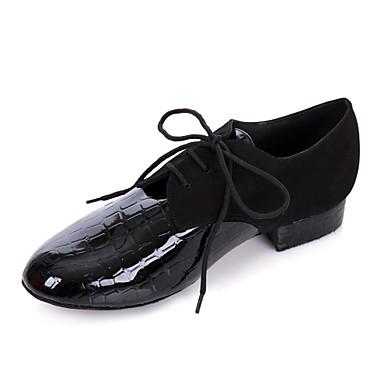 Herrn Schuhe für modern Dance / Ballsaal Kunstleder Oxford Niedriger Heel Keine Maßfertigung möglich Tanzschuhe Schwarz