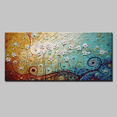 Handgemalte Abstrakt Landschaft Blumenmuster/Botanisch Abstrakte Landschaft Horizontal,Modern Ein Panel Leinwand Hang-Ölgemälde For Haus
