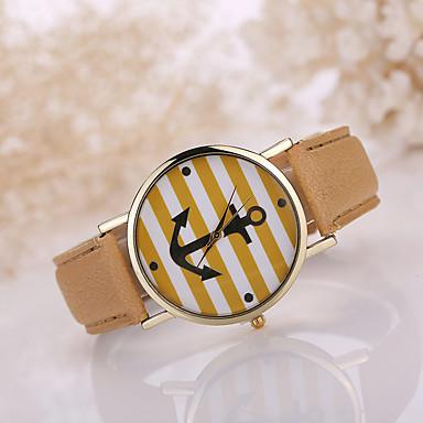 Damen Modeuhr Quartz Armbanduhren für den Alltag Leder Band Charme Schwarz Weiß Blau Rot Braun Rosa
