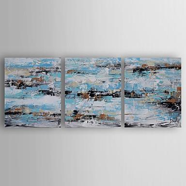 Håndmalte AbstraktModerne Tre Paneler Lerret Hang malte oljemaleri For Hjem Dekor