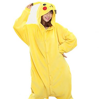 fccef614a4fd Adults  Kigurumi Pajamas Pika Pika Animal Onesie Pajamas Coral ...