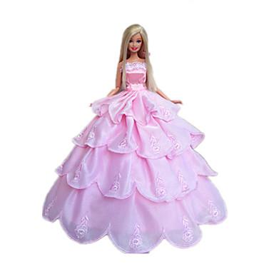 Svatba Šaty Pro Barbie Doll Polyester Šaty Pro Dívka je Doll Toy