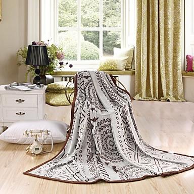 Flanell Blumen / Pflanzen 100% Polyester Decken