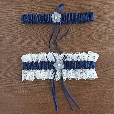 Polyester Klassisch Hochzeitsstrumpfband  -  Spitze Blume Strumpfbänder