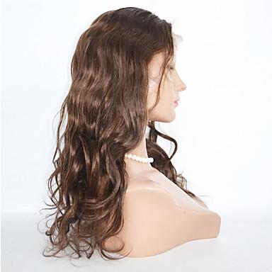 Echthaar Spitzenfront Perücke Große Wellen 130% Dichte 100 % von Hand geknüpft Afro-amerikanische Perücke Natürlicher Haaransatz Kurz