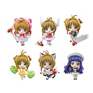Anime Action-Figuren Inspiriert von Cardcaptor Sakura Sakura Kinomodo PVC 5.5 CM Modell Spielzeug Puppe Spielzeug