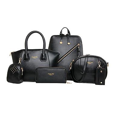 Women's Bags PU(Polyurethane) Bag Set 6 Pieces Purse Set Blue / Black / Yellow / Bag Sets