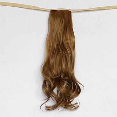 onda de água loira tipo de atadura sintética peruca de cabelo rabo de cavalo escuro (27j cor)