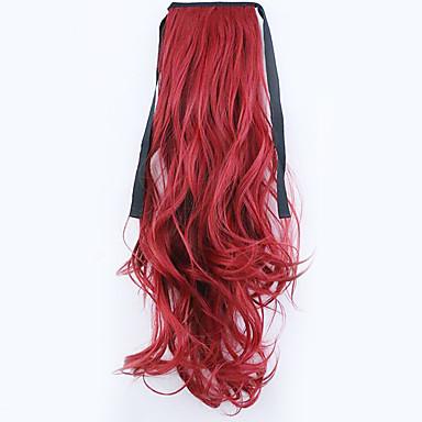 comprimento borwn 50 centímetros venda direta da fábrica ligamento tipo de cabelo rabo de cavalo rabo de cavalo de onda (cor 130m)