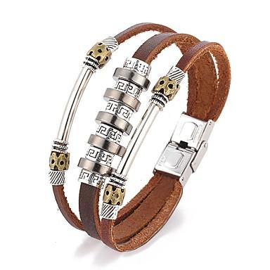 Homme Bracelets en cuir Bracelets Cuir Bijoux Pour Quotidien Décontracté Regalos de Navidad