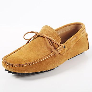 Herrn Schuhe Wildleder Frühling Herbst Mokassin Komfort Loafers & Slip-Ons Schnürsenkel für Hochzeit Sportlich Normal Büro & Karriere