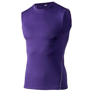 Homme Course / Running Gilet/Sans Manche Séchage rapide Anti-transpiration Vêtements de sport Course/RunningBlanc Vert Rouge Gris Noir