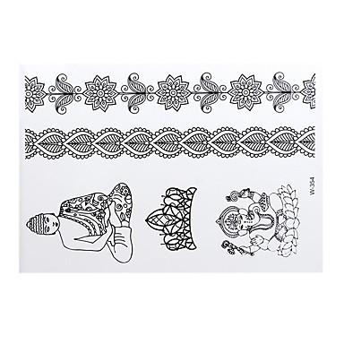 Airbrushsjablonger til tatovering-TatoveringsklistremerkerPapir-1-21*17*0.3-Dame / Voksen