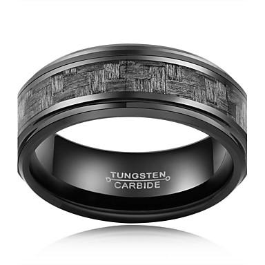 Gyűrűk Divat / Régies (Vintage) Esküvő / Parti / Napi / Hétköznapi Ékszerek Wolfram acél Férfi Karikagyűrűk 1db,7 / 8 / 9 / 10 / 11 / 12