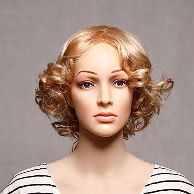 Szintetikus haj paróka Hullámos Sapka nélküli Rövid