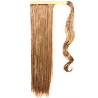 dourado 60 centímetros sintética de alta temperatura fio peruca cabelo liso cor rabo de cavalo 12/613