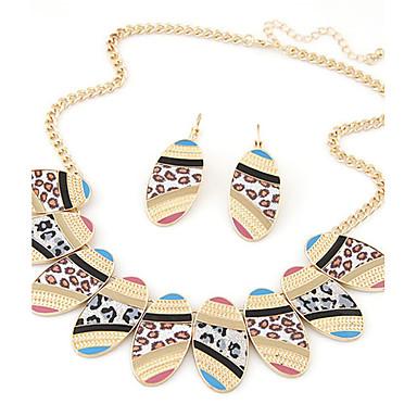 Schmuck Halsketten / Ohrringe Halskette / Ohrringe Modisch / Vintage Party / Alltag / Normal 1 Set Damen Goldfarben / Silber