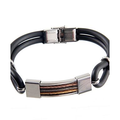 Homme Bracelets Rigides Mode Européen Acier inoxydable Bijoux Pour Quotidien Décontracté 1pc