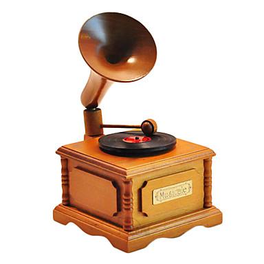 Holz gelb / braun kreative romantische Musik-Box für Geschenk