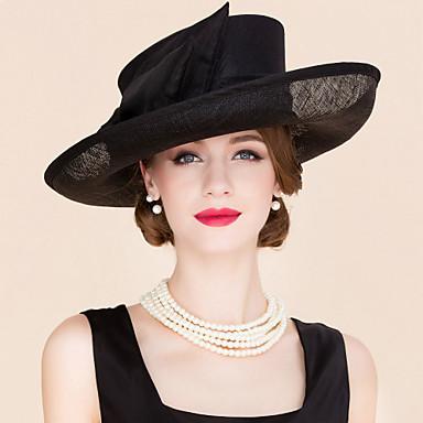 voordelige Hoeden-Vlas / Stof Kentucky Derby Hat / fascinators / hatut met 1 Bruiloft / Speciale gelegenheden  / Causaal Helm