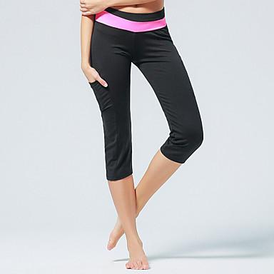 CONNY Damen Enge Laufhosen Atmungsaktiv Leggins Schnitt Hosen/Regenhose 3/4 Strumpfhosen/Corsaire Unten für Yoga Pilates Taekwondo Übung
