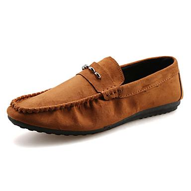 בגדי ריקוד גברים נעליים פליז נוחות נעליים ללא שרוכים ל קזו'אל שחור חום כחול