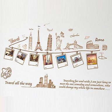 Landschaft Stillleben Mode Cartoon Design Worte & Zitate Retro Freizeit Wand-Sticker Flugzeug-Wand Sticker Foto Sticker, PVC Haus