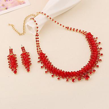 Mujer Rojo Conjunto de joyas - Incluir Rojo Para Boda Fiesta Ocasión especial / Aniversario / Pedida