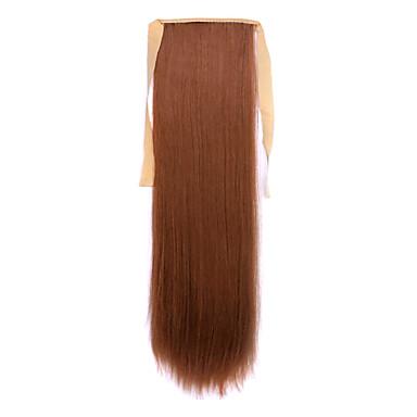 Con Clip Coletas Amarrada Pelo sintético Pedazo de cabello La extensión del pelo Recto