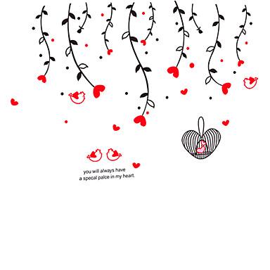 Dyr / Botanisk / Romantik / Still Life / Mote / fritid Wall Stickers Fly vægklistermærker,PVC 90*60*0.1