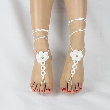 Fusskettchen - Blume Simple Style, Modisch Weiß / Rosa / Khaki Für Hochzeit Party Normal Damen