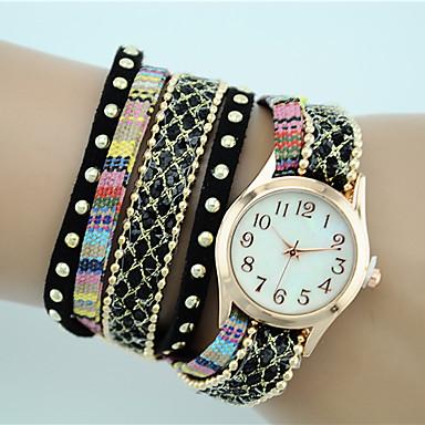 Mulheres Bracele Relógio Venda imperdível Tecido Banda Boêmio / Fashion Preta / Branco / Azul / Um ano / Tianqiu 377