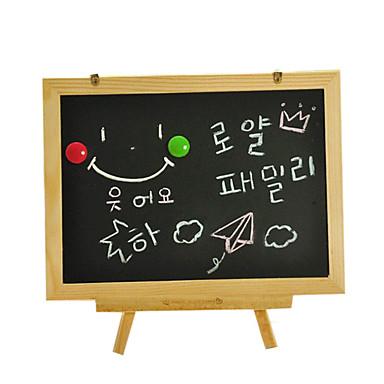 os três pilares do tipo portátil duplo pequeno quadro-negro, mesa de desenho para crianças, tablet magnética