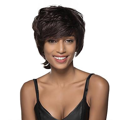 שיער ללא שיער שיער אנושי גלי ללא מכסה פאה