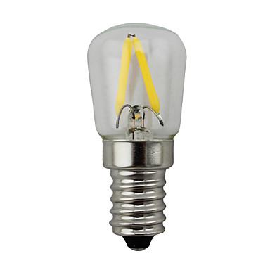 KWB 2W 150-200lm E14 LED-globepærer S14 2 LED perler COB Mulighet for demping Varm hvit 220-240V