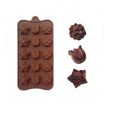 Moule de Cuisson Mold DIY Fleur Bourgeonnant Chocolat Tarte Gâteau Silicone Caoutchouc Economique La Saint Valentin Haute qualité