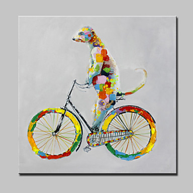 Kézzel festett Állatok Négyzet, Modern Vászon Hang festett olajfestmény lakberendezési Egy elem