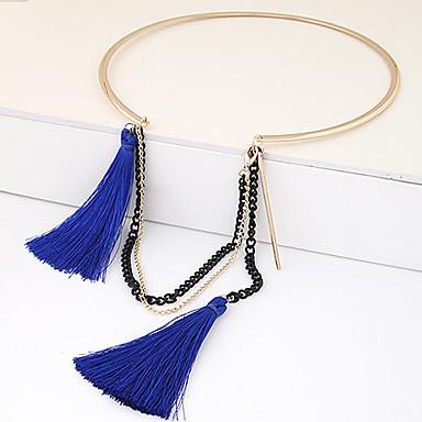 Modische Halsketten Halsketten Schmuck Party / Alltag / Normal Quaste / Modisch Schwarz / Blau 1 Stück Geschenk