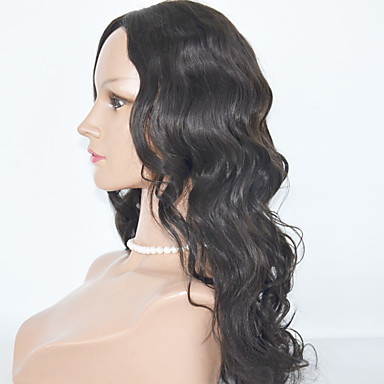 Human Hair Full Lace Wig Body Wave Wig 130% Natural Hairline / African American Wig / 100% Hand Tied Women's Medium Length / Long