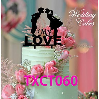 Décorations de Gâteaux Thème classique Couple classique Acrylique Mariage avec 1 O-phénylphénol