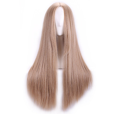 Synthetic Wig Straight Brown Women's Capless Synthetic Hair