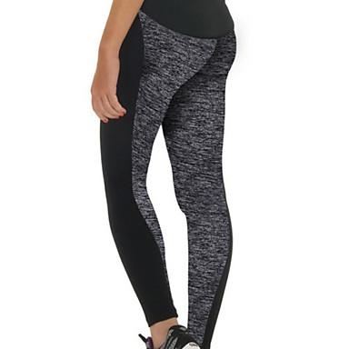 Mulheres Leggings de Corrida Leggings de Ginástica Respirável Macio Compressão Suave Calças para Exercício e Atividade Física Corrida S M