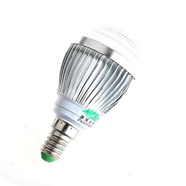 3W E14 Ampoules Globe LED A60(A19) 6 COB 280lumens lm Blanc Chaud / Blanc Naturel Décorative AC 100-240 V 1 pièce